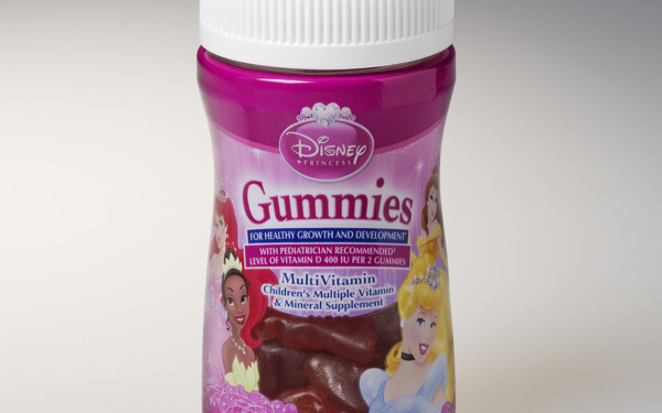Disney Gummies Nutritional Supplements Bottles