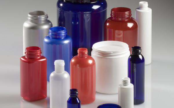 Red, white, and blue Nutritional Supplement Bottles