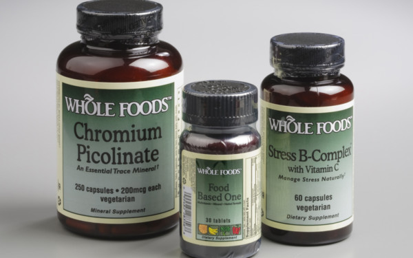 Whole Foods Nutritional Supplement Bottles