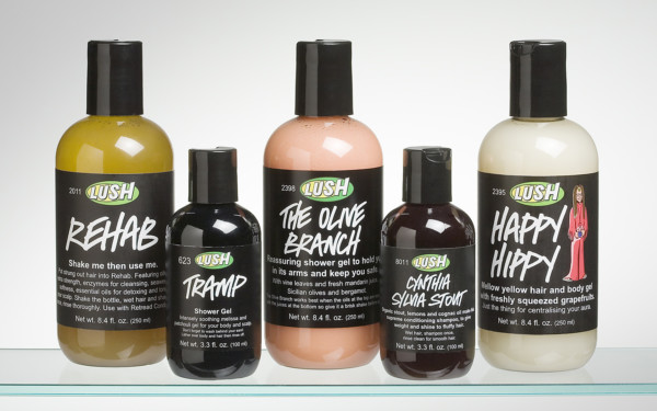 Lush Personal Care Bottles