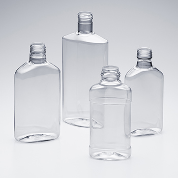 PET Flat Oval Bottles