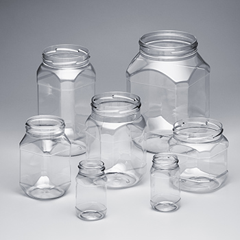 PET Octagonal Jars
