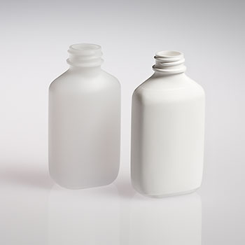 HDPE liquid oval bottles