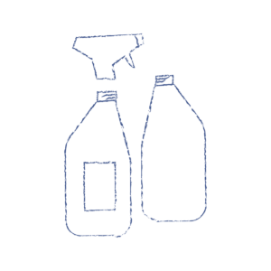 Basic drawing of sprayer bottle