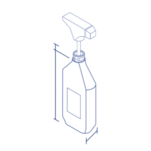 Illustration of sprayer and bottle